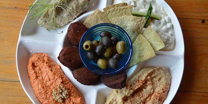 Mezze Plate from Kartel Wine Bar in Jing