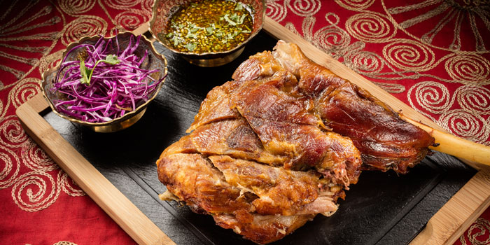 Mongolian Roasted Lamb Leg from Lost Heaven (Silk Road) located at Jing