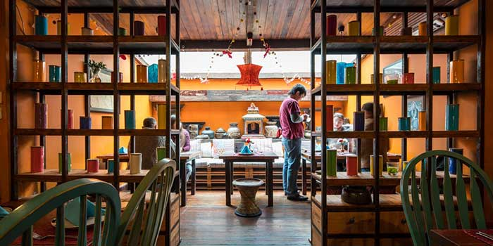 Open-Roof Interior of Nepali Kitchen located in Jing
