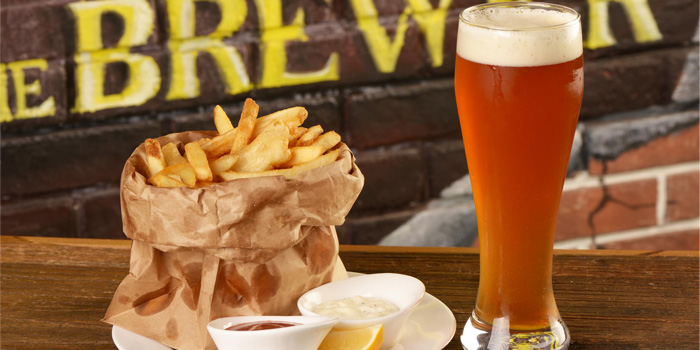 French Fries with beer of The Brewer located on Taicang Lu