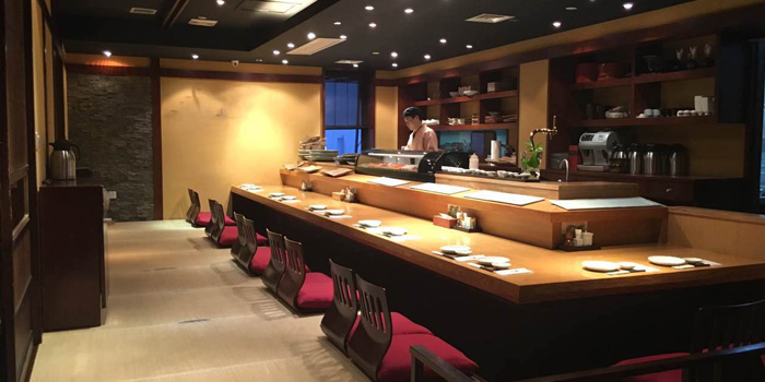 Indoor of Yin ping Japanese Restaurant located on Fenyang Lu