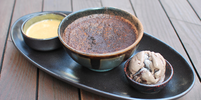 Chocolate pudding of Husk in Jing