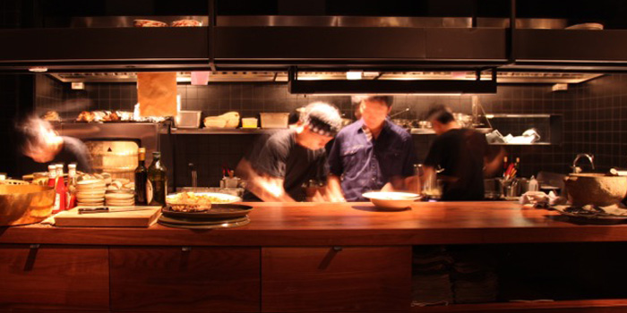Open kitchen of Henkes located near Jing