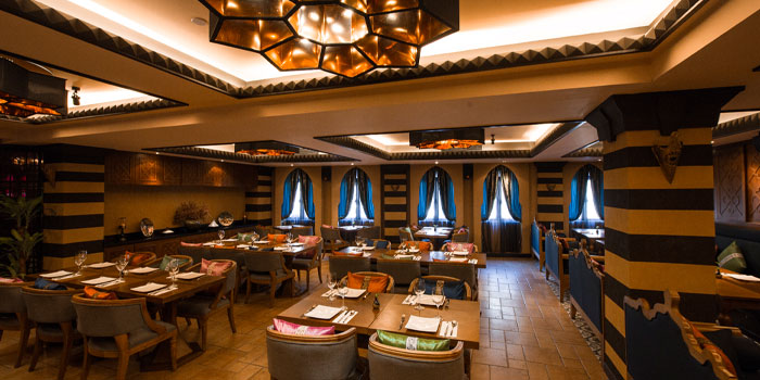 Indoor of Tajine Moroccan Restaurant & Lounge located on The Bund, Shanghai