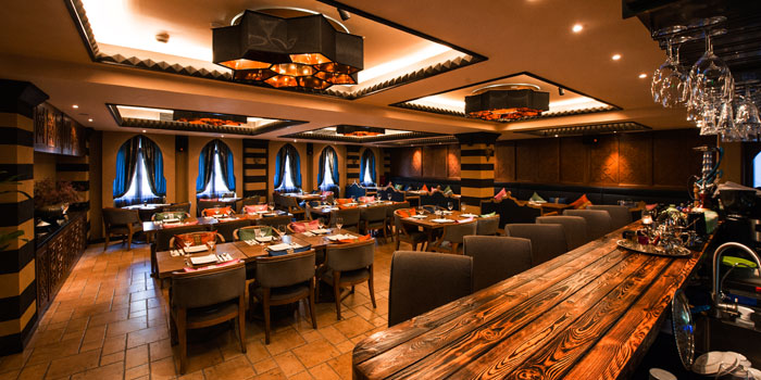 Indoor of Tajine Moroccan Restaurant & Lounge located on The Bund, Shanghai