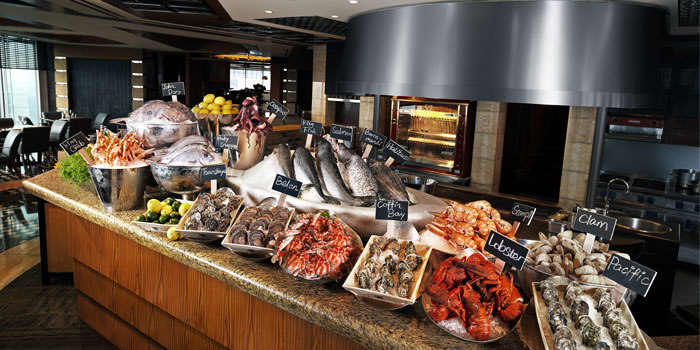 Sea food session of The Grill located in Grand Hyatt Pudong, Shanghai