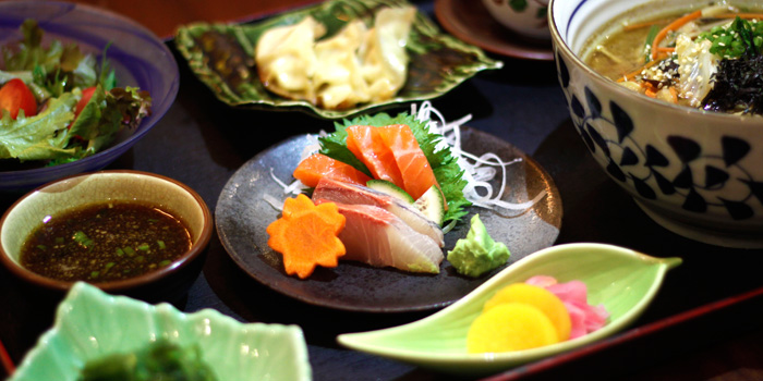 Sashimi plate of Sakiton Grill & Sushi located at Shanghai Marriott Hotel on Daduhe Lu, Putuo, Shanghai