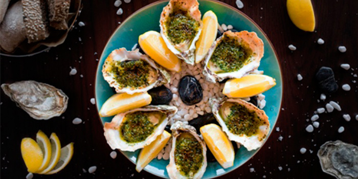 broiled-rockefller-oysters of POP American Brasserie located on Zhongshan Dong Yi Lu, Huangpu District, Shanghai, China