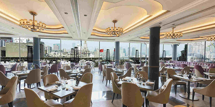 Indoor of POP American Brasserie located on Zhongshan Dong Yi Lu, Huangpu District, Shanghai, China