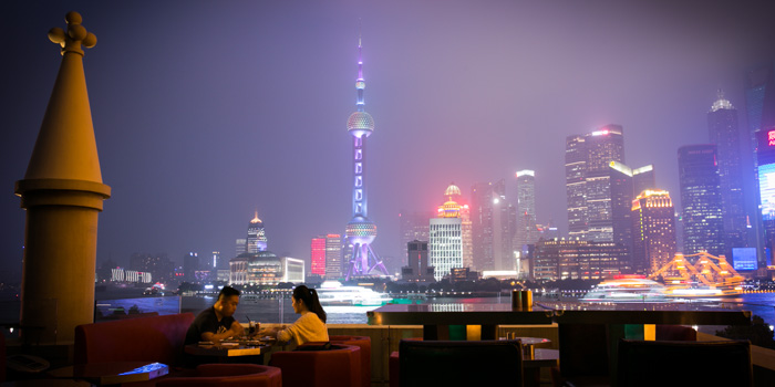 Outdoor of CASANOVA located on the bund 6, Huangpu District, Shanghai, China