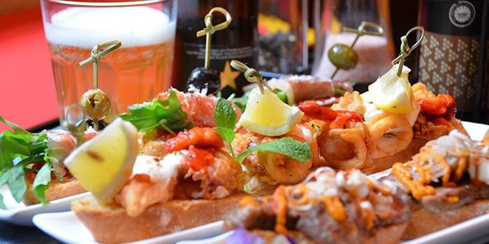 Mixed Pinchos from Albaluz located on Tianping Lu, Xuhui, Shanghai