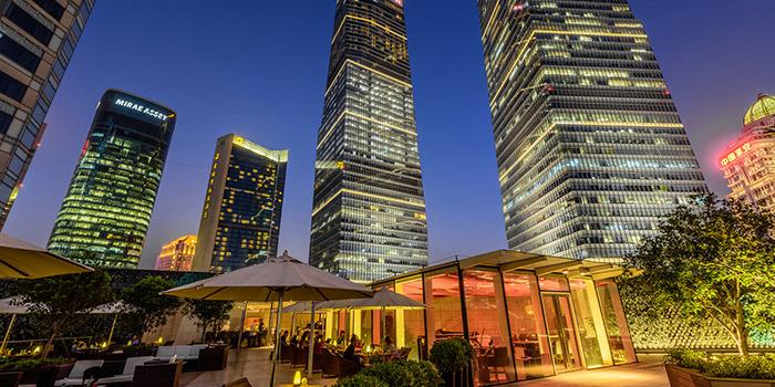 Terrace of Takumi Robatayaki & Sake Bar (IFC) located on Century Avenue, Pudong, Shanghai