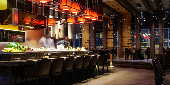 Indoor of Takumi Robatayaki & Sake Bar (Kerry Centre) located on Nanjing Xi Lu, Jing