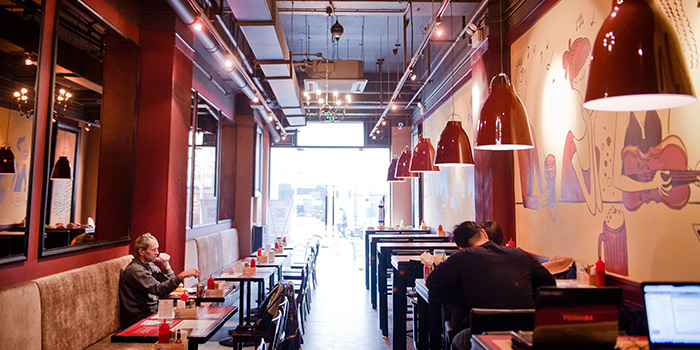 Indoor Seating Area of Bistro Burger located in Xuhui, Shanghai