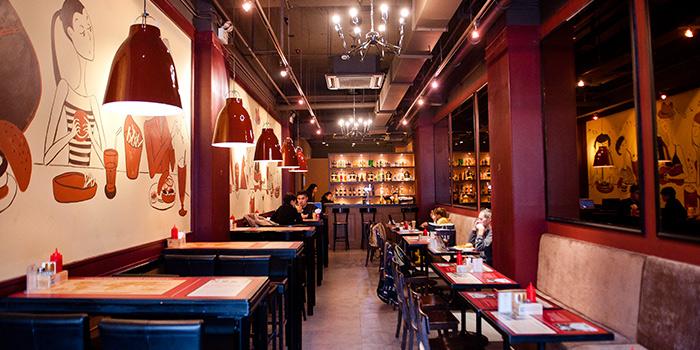 Indoor Seating Area of Bistro Burger located in Xuhui, Shanghai