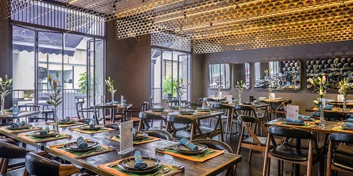 Interior of Gathering Clouds located in Changning, Shanghai