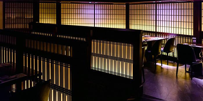 Interior of Takumi Robatayaki & Sake Bar (IFC) located on Century Avenue, Pudong, Shanghai