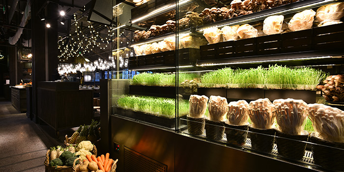 Mushroom Section of Qimin Organic Hotpot Marketplace (Hengshan Lu) located in Xuhui, Shanghai