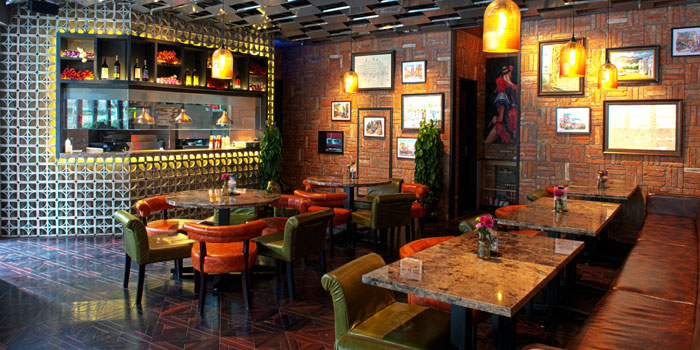 Indoor  of Brownstone Tapas & Lounge located on Fucheng Lu,Pudong, Shanghai