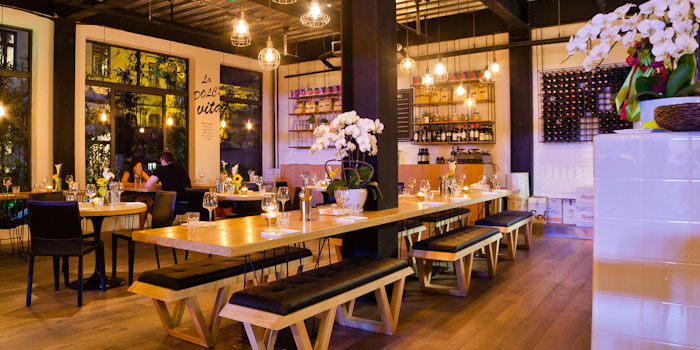 Indoor of Porcellino Italian Restaurant located on Yuyuan Lu, Changning, Shanghai