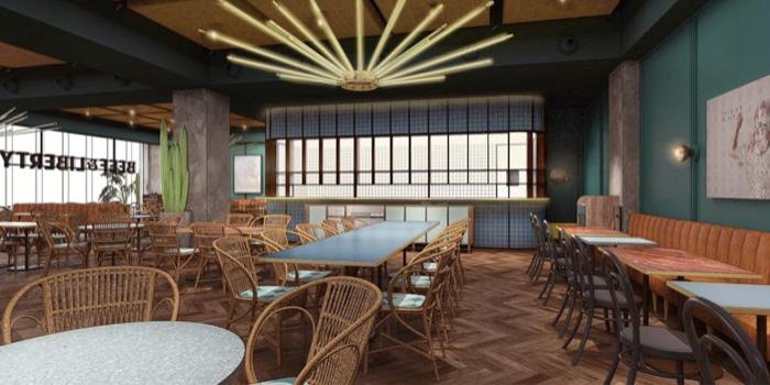 Indoor of Beef & Liberty located on Xiangyang Bei Lu, Xuhui, Shanghai