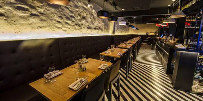 Indoor of Oyster Kitchen located on Yongjia Lu, Xuhui, Shanghai