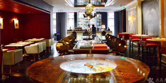 Indoor of Ribone Steakhouse located on Nanjing Dong Lu, Huangpu, Shanghai