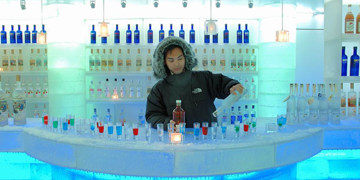 Ice Bar of Kafer by The Binjiang One located in Pudong, Shanghai