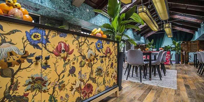 Interior of Xixi bistro located in Huangpu, Shanghai