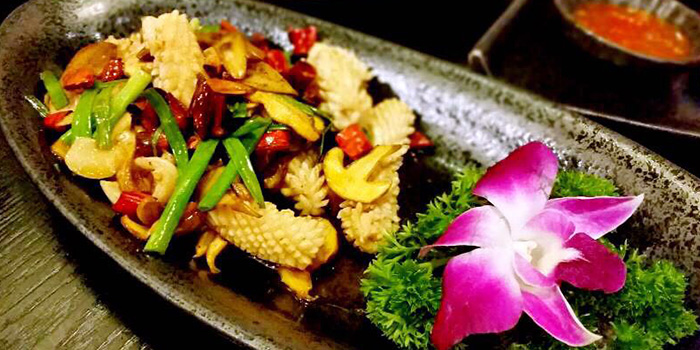 Squid from Secret Haven (Xintiandi) located in Huangpu, Shanghai