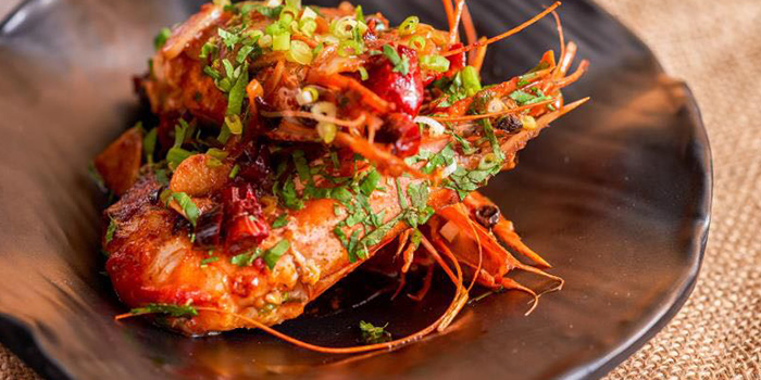 Prawns from Heat French Rotisserie & Bistro located in Jing