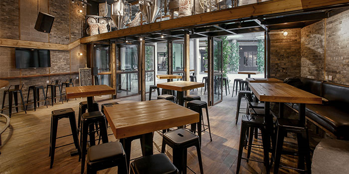 Indoors of Zapfler located in JingAn, Shanghai