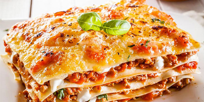 Lasagna of Pizza Vera Bund located in Huangpu, Shanghai