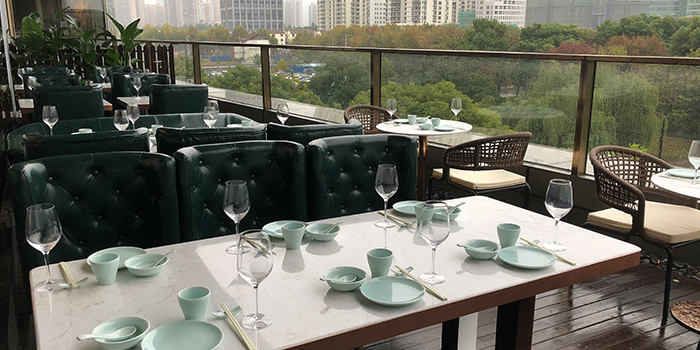 Terrace of Benzhen Sichuan Cuisine located in Huangpu, Shanghai