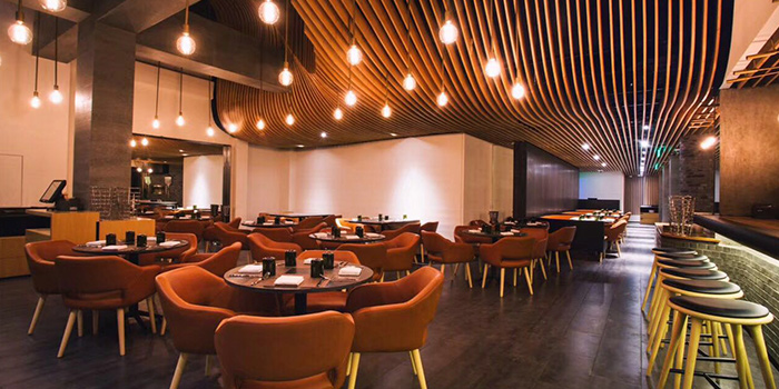 Indoor Seating of Wolfgang Puck (Xintiandi) located in Huangpu, Shanghai