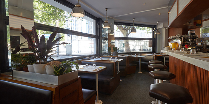 Indoor Seating of Diner located in Xuhui, Shanghai