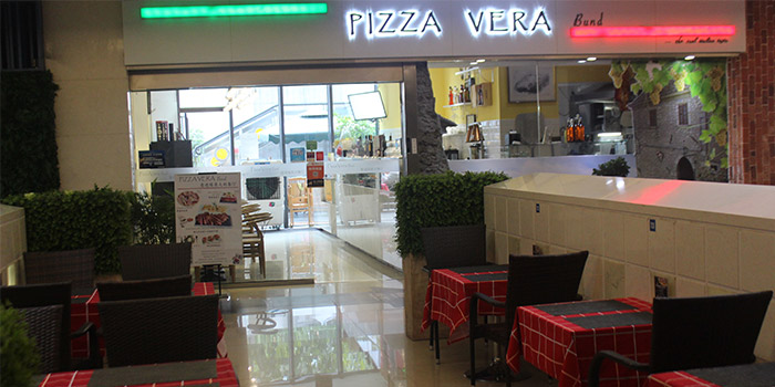 Indoors of Pizza Vera Bund located in Huangpu, Shanghai