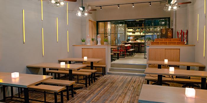 Interior of PHOENIX Hotpot Bar located in Minhang, Shanghai