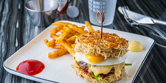 Ramen Burger from Oh My Burger located in Xuhui, Shanghai