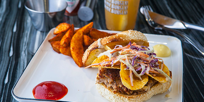 Shredded Pork burger from Oh My Burger located in Xuhui, Shanghai