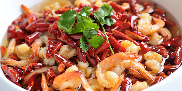 Shrimps from Tian La Green Fashion Restaurant (SML Center) located in Huangpu, Shanghai