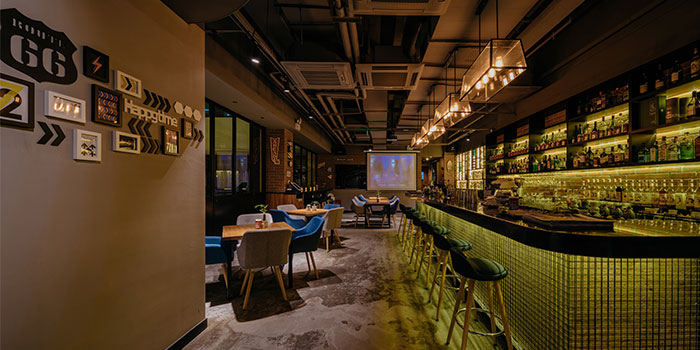 Indoors of Chill out! located in Jing