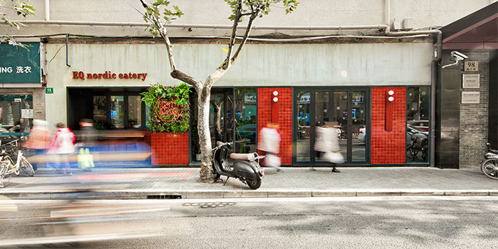 Outdoors of EQ Nordic Eatery (Yanping Lu) located in Jing