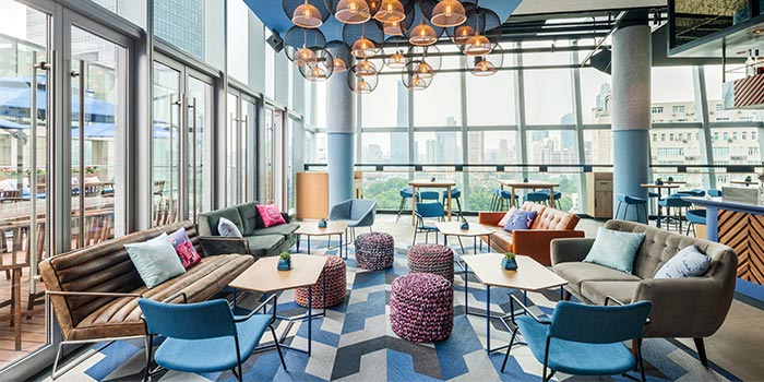 Indoors of THE CUT Rooftop located in Xuhui, Shanghai