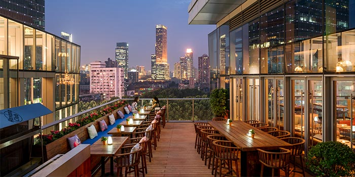 Outdoors of THE CUT Rooftop located in Xuhui, Shanghai