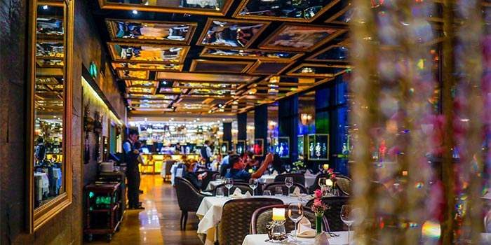 Indoors of Cafe des Stagiaires (Julu Lu) located in Luwan, Shanghai