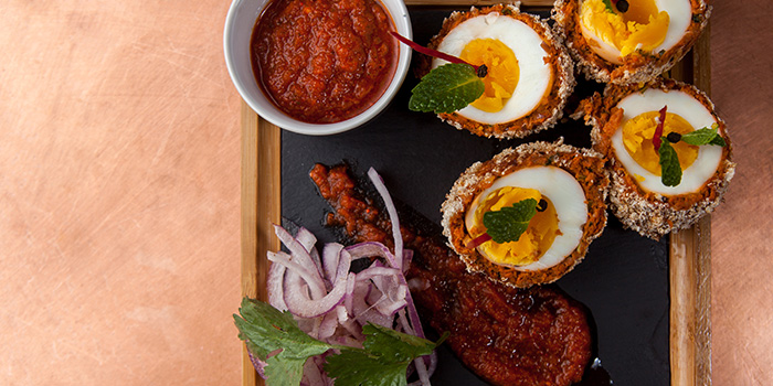 Eggs from Bombay Bistro located in Huangpu, Shanghai