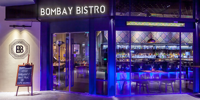 Exterior of Bombay Bistro located in Huangpu, Shanghai