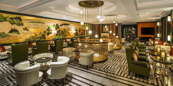 """Dining Area of St.Regis Bar(St.Regis Jing""""An) located in Jing""""An, Shanghai"""