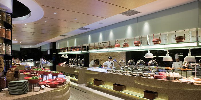 Interior of VIE All-Day Dining (Sofitel Sheshan) located in Songjiang, Shanghai